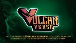 VulcanVerse's Marketplace Volume Triples From $5m to $15m, $20M Giveaway to Follow